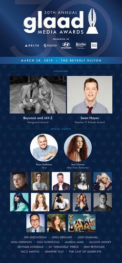 30th Annual GLAAD Media Awards Los Angeles , 2019 - смотреть онлайн