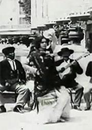 Испанский танец на празднике труппы фламенко, 1900 - смотреть онлайн